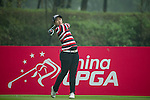 Chae Yoon Park of South Korea tees off at the 13th hole during Round 4 of the World Ladies Championship 2016 on 13 March 2016 at Mission Hills Olazabal Golf Course in Dongguan, China. Photo by Victor Fraile / Power Sport Images