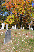 Autumn foliage at HIll Cemetery during the autumn months in Candia, New Hampshire.