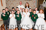 Gael Scoil Lios Tuathail pupils who received their 1st Communion's from Canon Declan O'Connor in St Mary's Church, Listowel on Saturday morning last.