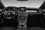 Stock photo of straight dashboard view of 2016 Mercedes Benz C-Class Sportline 2 Door Coupe Dashboard