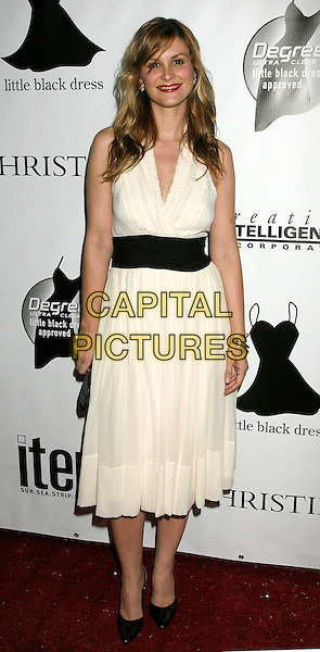 BONNIE SOMMERVILLE.Arrivals - Little Black Dress celebrates its Fifth Anniversary at Fleur de Lys, Bel Air, California, USA, .18 November 2006..full length somerville white cream dress black waistband.CAP/ADM/RE.©Russ Elliot/AdMedia/Capital Pictures.