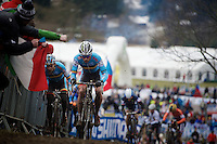 a rather anonymous race for cx legend Sven Nys (BEL)<br /> <br /> Elite Men's race<br /> <br /> 2015 UCI World Championships Cyclocross <br /> Tabor, Czech Republic