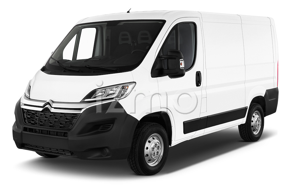 2015 Citroen Jumper L1H1 Club 3 Door Cargo Van Angular Front stock photos of front three quarter view