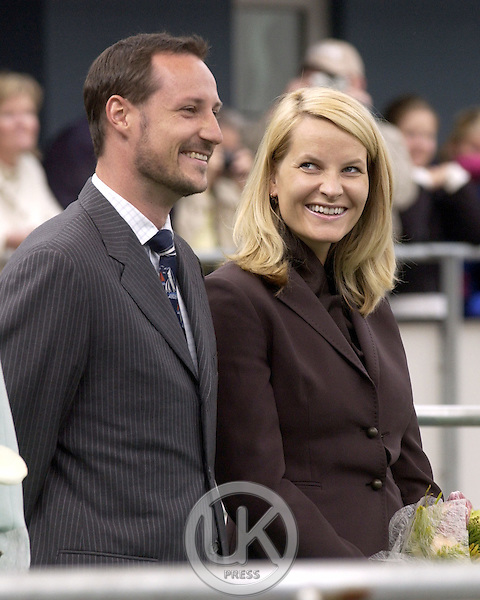 Crown Prince Haakon & Crown Princess Mette-Marit of Norway's visit to Iceland..Visit to the Shopping Centre at Gar Abaer..