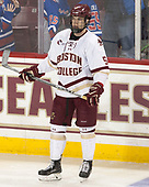 Casey Fitzgerald (BC - 5) - The visiting University of Vermont Catamounts tied the Boston College Eagles 2-2 on Saturday, February 18, 2017, Boston College's senior night at Kelley Rink in Conte Forum in Chestnut Hill, Massachusetts.Vermont and BC tied 2-2 on Saturday, February 18, 2017, Boston College's senior night at Kelley Rink in Conte Forum in Chestnut Hill, Massachusetts.