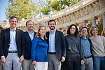 Pablo Casado, Isabel Diaz Ayuso, Jose Luis Martinez Almeida, Ana Pastor, Adolfo Suarez Illana, in the presentation of the Partido Popular program<br />  October 13, 2019. <br /> (ALTERPHOTOS/David Jar)