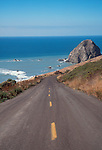 California, The Lost Coast, Pacific Ocean, California Highway 211, Cape Mendocino, Humboldt County, A road to a bygone Northern California, a two lane blacktop between Ferndale and Petrolia..