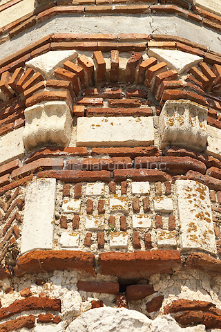 Exterior decorative wall, Saint John Aliturgetos Church, Nessebar, Bulgaria  June 2015.<br /> CAP/MEL<br /> &copy;MEL/Capital Pictures /MediaPunch ***NORTH AND SOUTH AMERICA ONLY***