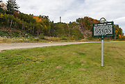 Site of the abandoned Nansen Ski Jump in Milan New Hampshire USA. This jump was constructed in 1936 and in 1938 Olympic Trials were held here. The jump closed in 1988. <br />