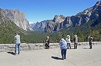 This visitor viewpoint of Yosemite Valley, Yosemite National Park, California, USA, is perenially popular with photographers. 201304181593<br /> <br /> Copyright Image from Victor Patterson, 54 Dorchester Park, Belfast, UK, BT9 6RJ<br /> <br /> Tel: +44 28 9066 1296<br /> Mob: +44 7802 353836<br /> Voicemail +44 20 8816 7153<br /> Skype: victorpattersonbelfast<br /> Email: victorpatterson@me.com<br /> Email: victorpatterson@ireland.com (back-up)<br /> <br /> IMPORTANT: If you wish to use this image or any other of my images please go to www.victorpatterson.com and click on the Terms &amp; Conditions. Then contact me by email or phone with the reference number(s) of the image(s) concerned.