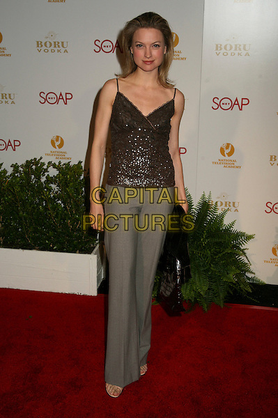 "NICOLE FORESTER.""Daytime Emmy Nominee Party"" Presented by SoapNet held at The Hollywood Roosevelt Hotel, Holywood, California, USA..April 27th, 2006.Photo: Byron Purvis/AdMedia/Capital Pictures.Ref: BP/ADM.full length grey gray trousers brown top.www.capitalpictures.com.sales@capitalpictures.com.© Capital Pictures."