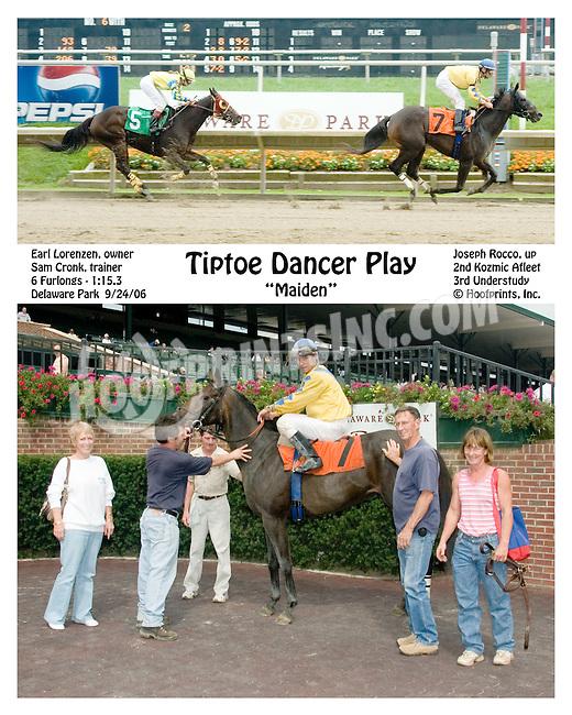Tiptoe Dancer Play winning at Delaware Park on 9/24/2006