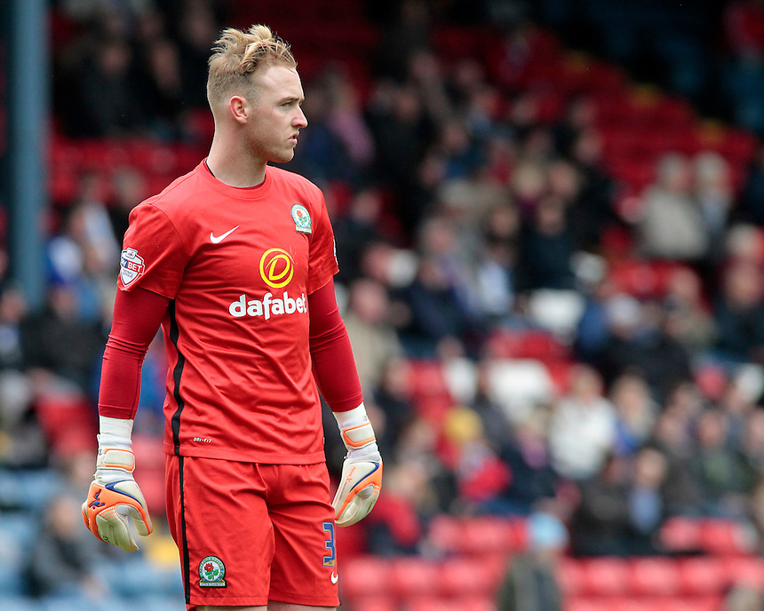 Blackburn Rovers' Jason Steele in action during todays match  <br /> <br /> Photographer David Shipman/CameraSport<br /> <br /> Football - The Football League Sky Bet Championship - Blackburn Rovers v Bristol City - Saturday 23rd April 2016 - Ewood Park - Blackburn <br /> <br /> &copy; CameraSport - 43 Linden Ave. Countesthorpe. Leicester. England. LE8 5PG - Tel: +44 (0) 116 277 4147 - admin@camerasport.com - www.camerasport.com