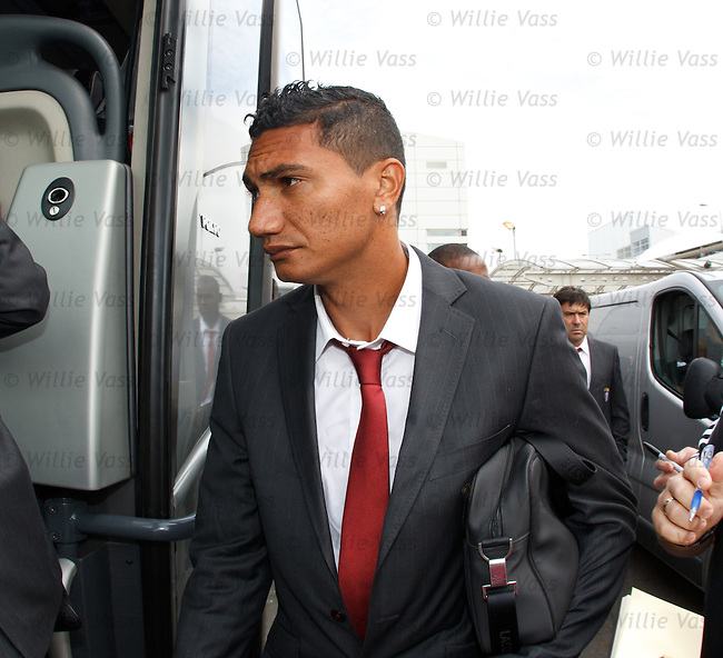 Vandinho of SC Braga at Glasgow airport