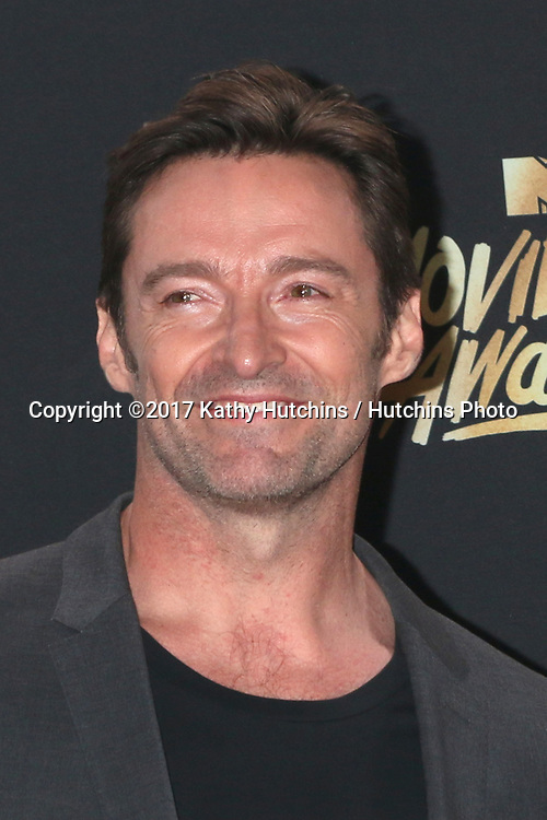LOS ANGELES - MAY 7:  Hugh Jackman at the MTV Movie and Television Awards on the Shrine Auditorium on May 7, 2017 in Los Angeles, CA