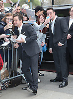 Declan Donnolly and Anthony McPartlin (Ant and Dec) arriving for the TRIC Awards 2014, at Grosvenor House Hotel, London. 11/03/2014 Picture by: Alexandra Glen / Featureflash