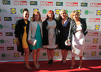 19/05/2015 <br /> (L to r) Niamh deans, heather Hastings, Christina duff. Laura Bowe, Laura marsh <br /> during the Irish mirror pride of Ireland awards at the mansion house, Dublin.<br /> Photo: gareth chaney Collins