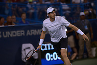 Washington, DC - August 5, 2015: Number 1 seed Andy Murray prepares to take a shot in a match against Teymuraz Gabashvii of Russia during the Citi Open tennis tournament at the FitzGerald Tennis Center in the District of Columbia August 5, 2015.  (Photo by Don Baxter/Media Images International)