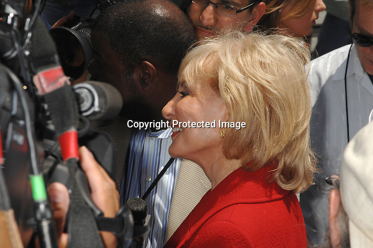 Barbara Walters..attending The Induction of Barbara Walter's star  on The Hollywood Walk of Fame on June 14, 2007 in Hollywood, ..California. ..Robin Platzer, Twin Images....212-935-0770