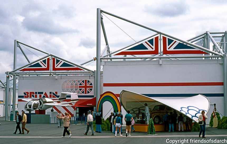 Vancouver: EXPO '86--British Pavilion, Standard Modules. Photo '86.