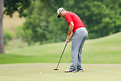 28th May 2017, Fort Worth, Texas, USA; Jon Rahm sinks his birdie putt on #8 during the final round of the PGA Dean & Deluca Invitational at Colonial Country Club in Fort Worth, TX.