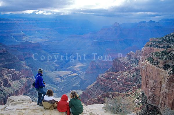 Family visits Grand Canyon at Cape Royal on North Rim of Grand Canyon National Park, Arizona, AGPix_0148.