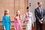 (R to L) King Felipe VI, Queen Letizia, Princess of Asturias Leonor and Infant Sofia attend auddience in Oviedo because of Princess of Asturias Awards 2019. October 18, 2019 (Alterphotos/ Francis Gonzalez)