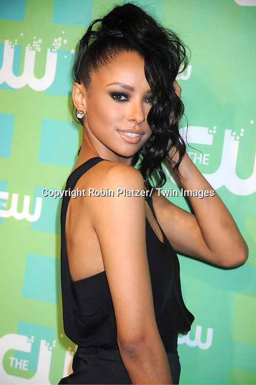 """Kat Graham of """" The Vampire Diaries"""" attends The CW Network's 2012 Upfront Presentation on May 17, 2012 at New York City Center in New York."""