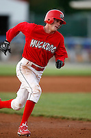 June 19, 2009:  Shortstop Ryan Jackson of the Batavia Muckdogs runs the bases during a game at Dwyer Stadium in Batavia, NY.  The Muckdogs are the NY-Penn League Short-Season Class-A affiliate of the St. Louis Cardinals.  Photo by:  Mike Janes/Four Seam Images