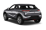 Car pictures of rear three quarter view of a 2019 DS DS 3 Crossback Grand Chic 5 Door SUV angular rear