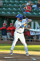 Mitchell Hansen (43) of the Ogden Raptors at bat against the Orem Owlz in Pioneer League action at Lindquist Field on September 9, 2016 in Ogden, Utah. This was Game 1 of the Southern Division playoff. Orem defeated Ogden 6-5. (Stephen Smith/Four Seam Images)
