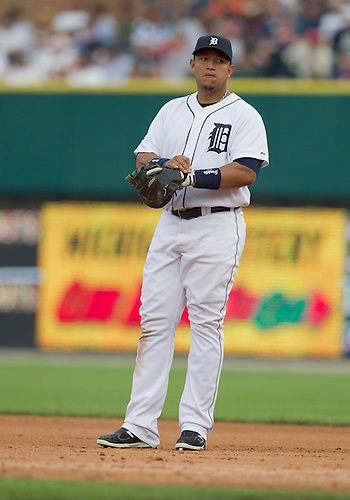 June 27, 2011:  Detroit Tigers first baseman Miguel Cabrera (#24) during MLB game action between the Toronto Blue Jays and the Detroit Tigers at Comerica Park in Detroit, Michigan.  The Tigers defeated the Blue Jays  4-2.