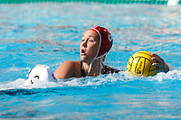 Stanford, CA - April 28, 2019: Aria Fischer during the Stanford vs USC MPSF Women's Water Polo Championship Sunday at the Avery Aquatic Center.<br /> <br /> No. 1 Stanford lost the MPSF Championship in sudden death to the No. 2 Trojans, 9-8.