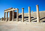 Acropolis temple and buildings, Lindos, Rhodes, Greece