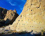 Sculptured volcanic rock walls line the trail to Hole In The Wall, a narrow canyon that terminates at the campground to the east. Mojave National Preserve; Est. October 31, 1994 with the passage of the California Desert Protection Act. San Bernardino County, CA.