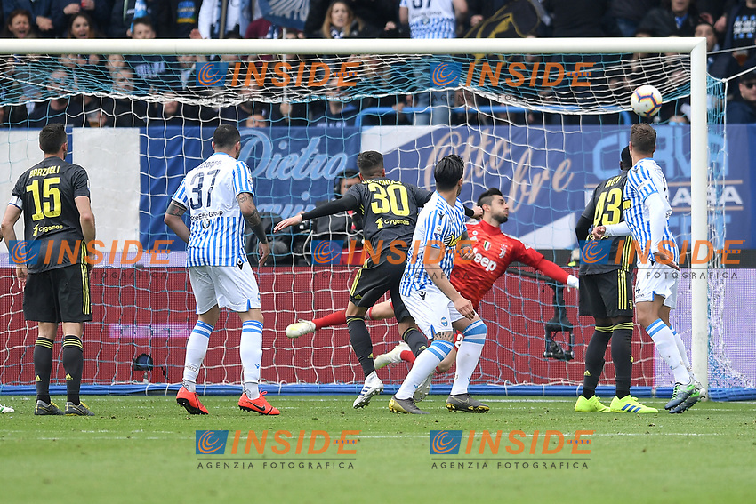 Kevin Bonifazi of SPAL scores goal of 1-1 <br /> Ferrara 13-4-2019 Stadio Paolo Mazza Football Serie A 2018/2019 SPAL - Juventus <br /> Foto Andrea Staccioli / Insidefoto