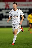 Pictured: Alex Bray of Swansea Monday 25 April 2016<br /> Re: Play Off semi final, Swansea City AFC U21 v Aston Villa FC U21 at the Liberty Stadium, Swansea, UK