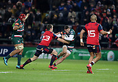 9th December 2017, Thomond Park, Limerick, Ireland; European Rugby Champions Cup, Munster versus Leicester Tigers; Jonny May, Leicester Tigers, tries to get past Darren Sweetnam of Munster