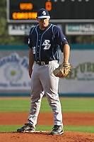 Kyle Blair #26 the University of San Diego Toreros  pitching against the Coastal Carolina University Chanticleers   at Watson Stadium at Vrooman Field in Conway,, SC on March 26, 2010. Photo by Robert Gurganus/Four Seam Images