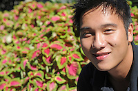 Jian Yang, 25, a business graduate student, near the University of Chicago's North Michigan Avenue campus, the Gleacher Center, in Chicago, Illinois on September 26, 2008.  Yang, who is in his second year, expects to graduate with $200,000 in debt.