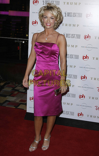 KELLY CARLSON .The 57th Annual Miss USA Competition held at the Planet Hollywood Hotel and Casino, Las Vegas, Nevada , USA, .11 April 2008.full length pink dress silver strappy sandals clutch bag .CAP/ADM/MJT.©MJT/Admedia/Capital Pictures
