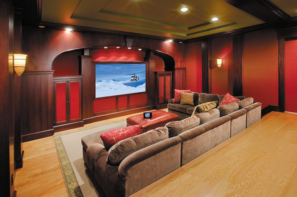 Media Room with Hidden Technology