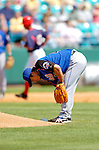 18 March 2006: Yusaku Iriki, pitcher for the New York Mets, gives up a home run to Royce Clayton (rounding third) during a Spring Training game against the Washington Nationals at Space Coast Stadium, in Viera, Florida. The Nationals defeated the Mets 10-2 in Grapefruit League play...Mandatory Photo Credit: Ed Wolfstein Photo..