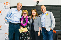 Presidential Medal for Distinguished Service, Jacalyn Feigelman<br /> The Occidental College Human Resources Department hosts Employee Recognition Day on Thursday, May 23, 2019 in Rush Gym. Distinguished service awards were presented for service and excellence, in addition to annual recognition for yearly milestones.<br /> <br /> (Photo by Don Milici, Freelance)