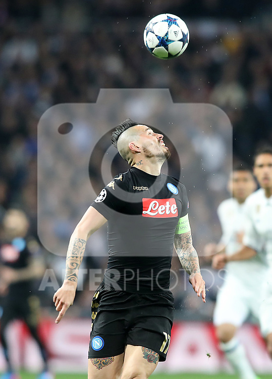 SSC Napoli's Marek Hamsik during Champions League 2016/2017 Round of 16 1st leg match. February 15,2017. (ALTERPHOTOS/Acero)