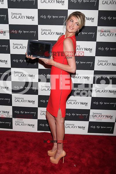 Kate Upton attends the Samsung Galaxy Note 10.1 Launch Event in New York City, August 15, 2012. ©Diego Corredor/MediaPunch Inc. /NortePhoto.com<br /> <br /> **CREDITO*OBLIGATORIO** *No*Venta*A*Terceros*<br /> *No*Sale*So*third* ***No*Se*Permite*Hacer*Archivo***No*Sale*So*third*
