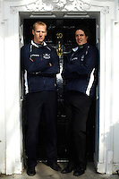 PUTNEY, LONDON, ENGLAND, 06.03.2006,Oxford's Canadian Internationals, left Jake Wetzel and right 2006 Oxford Varsity President Barney Williams, at the 2006 Presidents Challenge and Boat Race Crew announcement, held at the Winchester Club.   © Peter Spurrier/Intersport-images.com[Mandatory Credit Peter Spurrier/ Intersport Images] Varsity:Boat Race