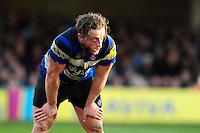 Max Lahiff of Bath Rugby looks on. Aviva Premiership match, between Bath Rugby and Harlequins on February 18, 2017 at the Recreation Ground in Bath, England. Photo by: Patrick Khachfe / Onside Images