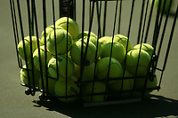 STANFORD, CA - OCTOBER 28:  Tennis balls during picture day on October 28, 2008 at the Taube Family Tennis Stadium in Stanford, California.