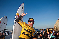 ADRIANO DE SOUZA (BRA)   De Souza Takes Inaugural ASP World Tour Win at Billabong Pro Mundaka..SOPELANA, Euskadi/Spain (Tuesday, October 13, 2009) - Adriano de Souza (BRA), 22, claimed his inaugural ASP World Tour win today, taking out the Billabong Pro Mundaka, eliminating fellow Finalist Chris Davidson (AUS), 33, in punchy two-to-three foot (1 metre) waves at the backup venue of Sopelana...Stop No. 8 of 10 on the 2009 ASP World Tour, the Billabong Pro Mundaka experienced an array of conditions for the event, from clean surf on the opening day at Mundaka to a lengthy seven-day wait before a marathon 24-heat session yesterday, culminating into today's dramatic finale...De Souza, who had previously experienced in the ASP World Junior Championships (winning in 2003) and on the ASP World Qualifying Series winning in 2005), was rapt with his inaugural ASP World Tour victory..Photo: Joliphotos.com